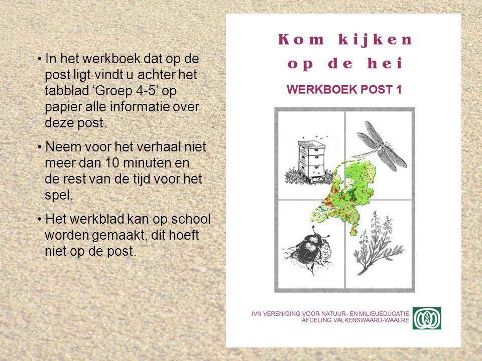 Verhaal over de infoborden Op de post willen we de kinderen de volgende dingen duidelijk maken: De hei is geen 'echte' natuur.