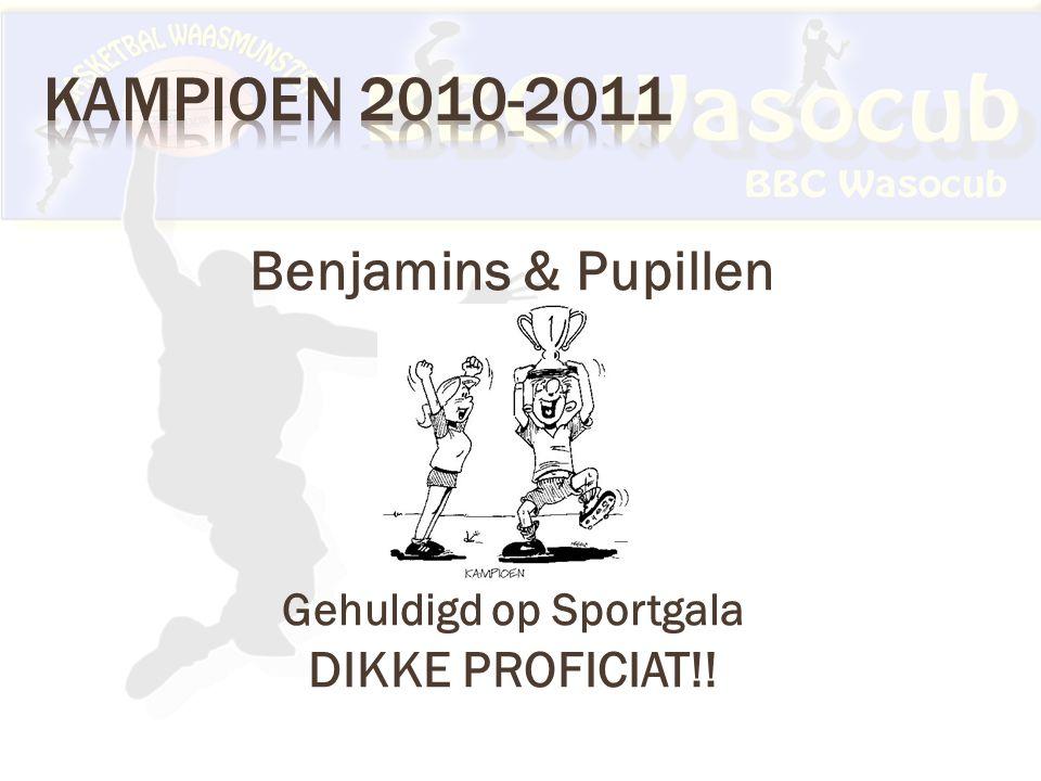 Benjamins & Pupillen Gehuldigd op Sportgala DIKKE PROFICIAT!!
