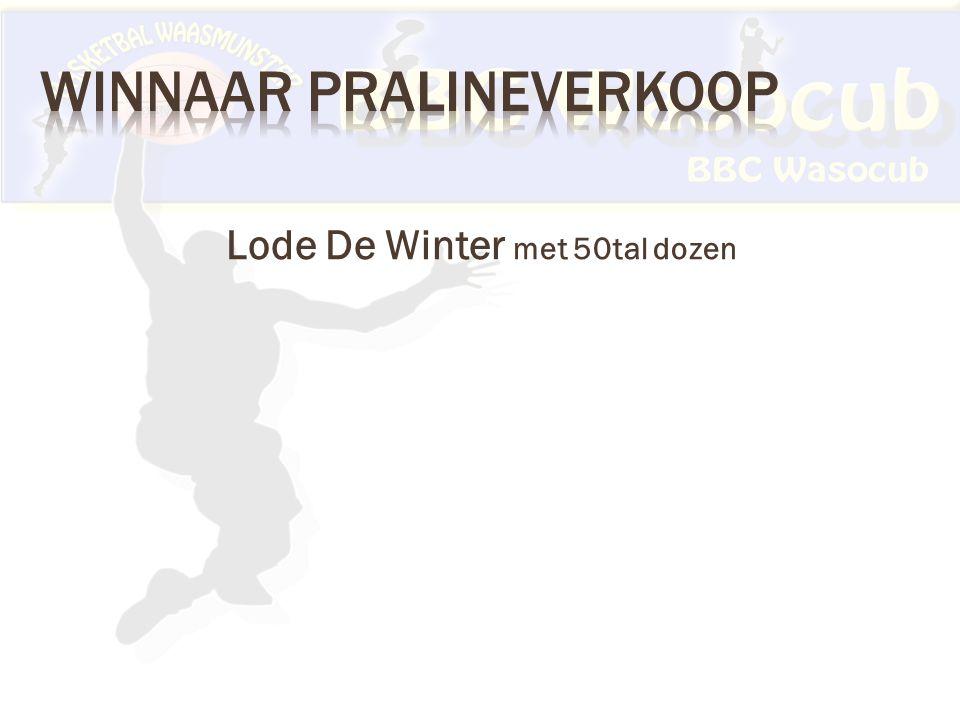 Lode De Winter met 50tal dozen