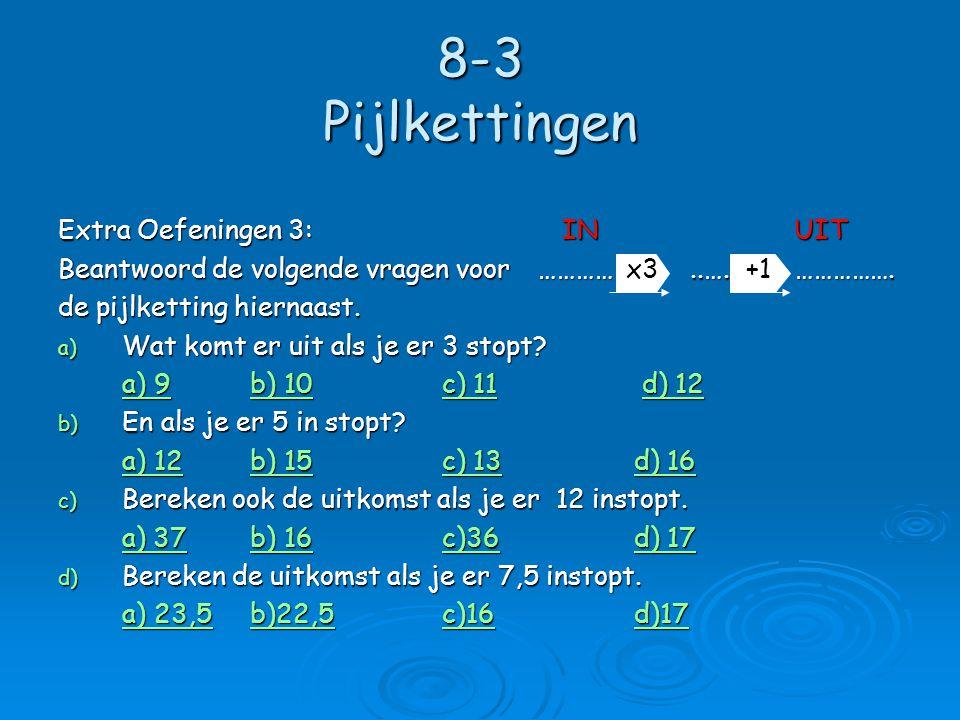8-3 Pijlkettingen  Rekenpijlen kun je ook aan elkaar koppelen.