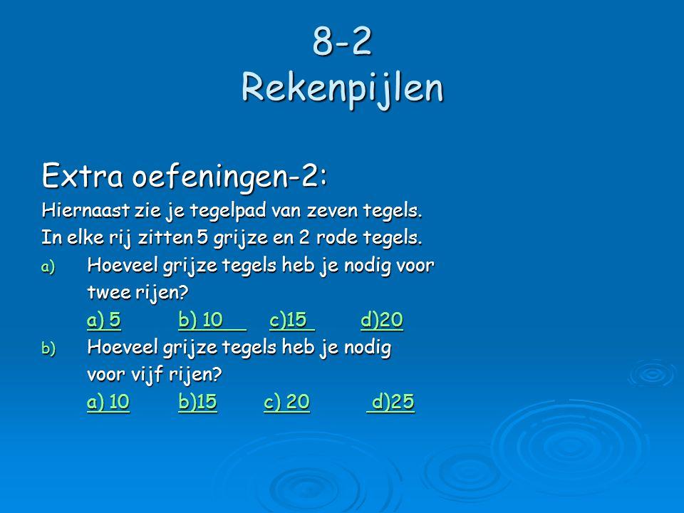 8-2 Rekenpijlen  Rekenpijlen gebruik je om een regel in woorden korter op te schrijven.