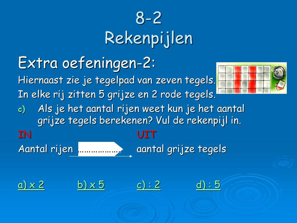 8-2 Rekenpijlen Extra oefeningen-2: Hiernaast zie je tegelpad van zeven tegels.