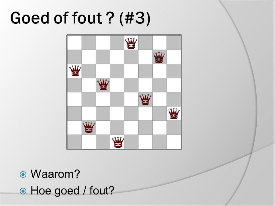 8 koninginnen oplossen versie 1.b  Methode: Koninginnen één voor één Positiekeuze: bezet zo min mogelijk vrije velden Bij vastlopen backtracken