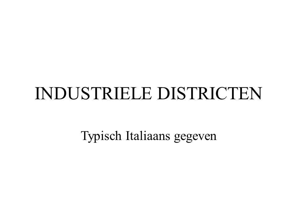 INDUSTRIELE DISTRICTEN Typisch Italiaans gegeven