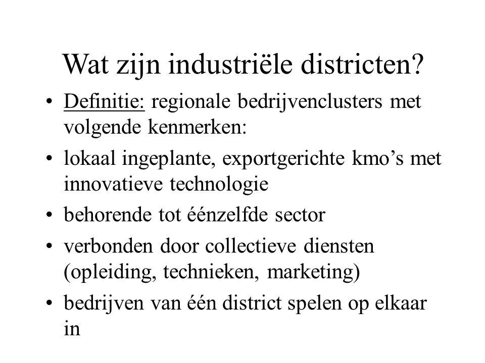Wat zijn industriële districten.