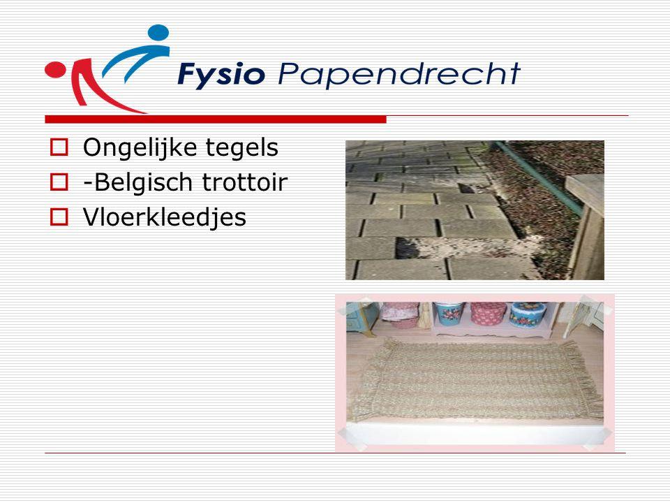 Ongelijke tegels  -Belgisch trottoir  Vloerkleedjes
