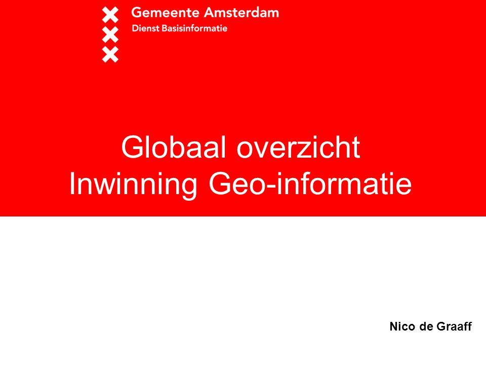 Globaal overzicht Inwinning Geo-informatie Nico de Graaff