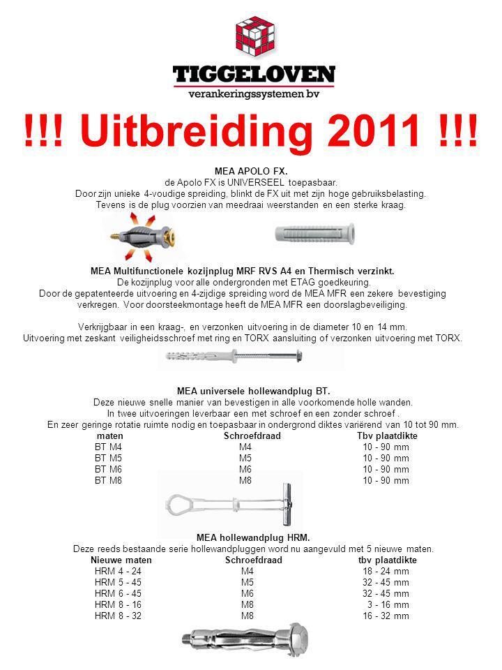 !!. Uitbreiding 2011 !!. MEA APOLO FX. de Apolo FX is UNIVERSEEL toepasbaar.