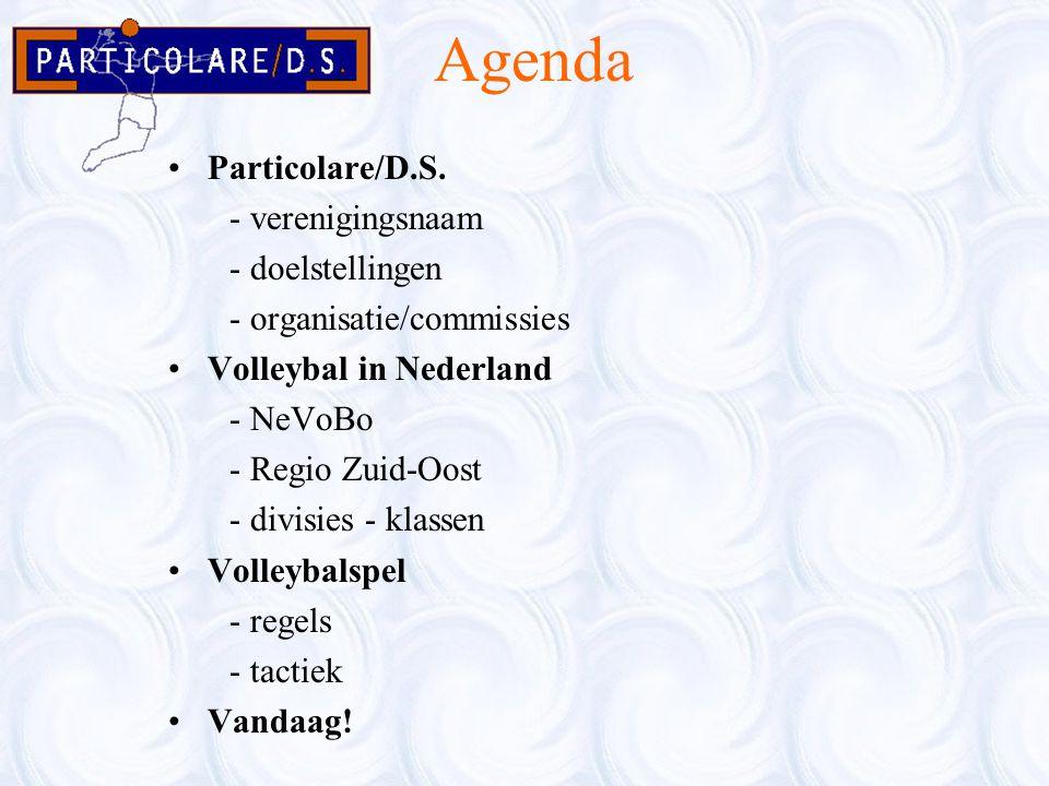 Agenda Particolare/D.S. - verenigingsnaam - doelstellingen - organisatie/commissies Volleybal in Nederland - NeVoBo - Regio Zuid-Oost - divisies - kla