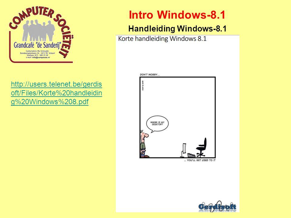 Intro Windows-8.1 Handleiding Windows-8.1