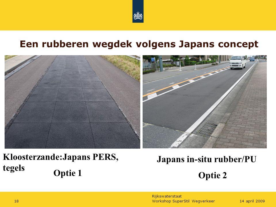 Rijkswaterstaat Workshop SuperStil Wegverkeer1814 april 2009 Een rubberen wegdek volgens Japans concept Kloosterzande:Japans PERS, tegels Japans in-si