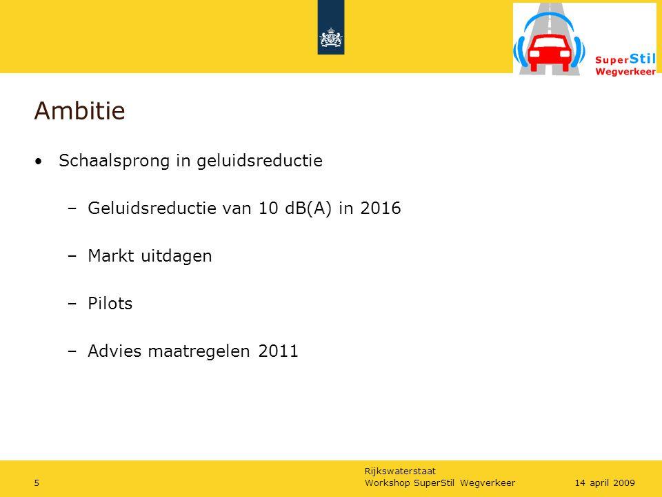 Rijkswaterstaat Workshop SuperStil Wegverkeer2614 april 2009