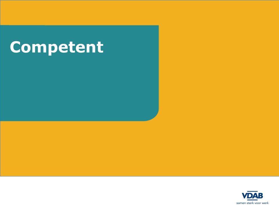 Aanpak Competent en CoMeet Inhoudelijke aanvulling en kwalitatieve evaluatie van Competent door VDAB-experten (Domeinexpertmanagers, instructeurs, consulenten, …) Aanmaak van competentiesjablonen, aanpassen taalgebruik door VDAB-experten in databank CoMeet Competentiesjablonen hebben als doelstelling de invoer van competenties in vacatures en dossiers makkelijker te maken voor de eindgebruikers Terugkoppeling naar SERV