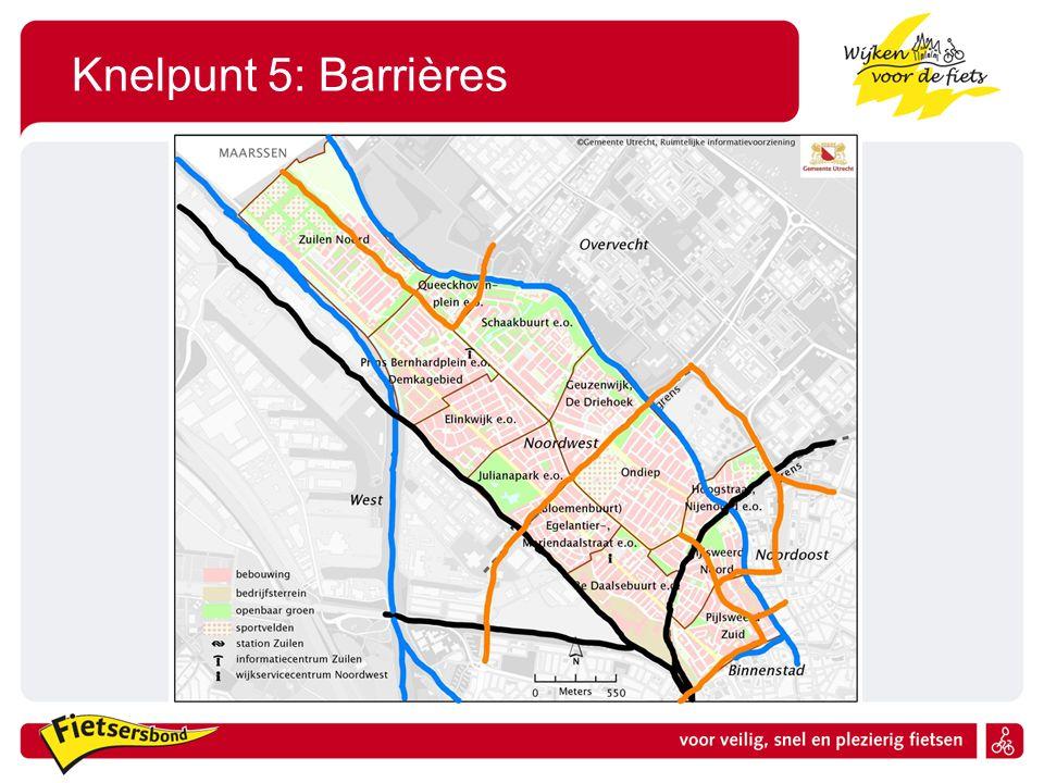 Knelpunt 5: Barrières