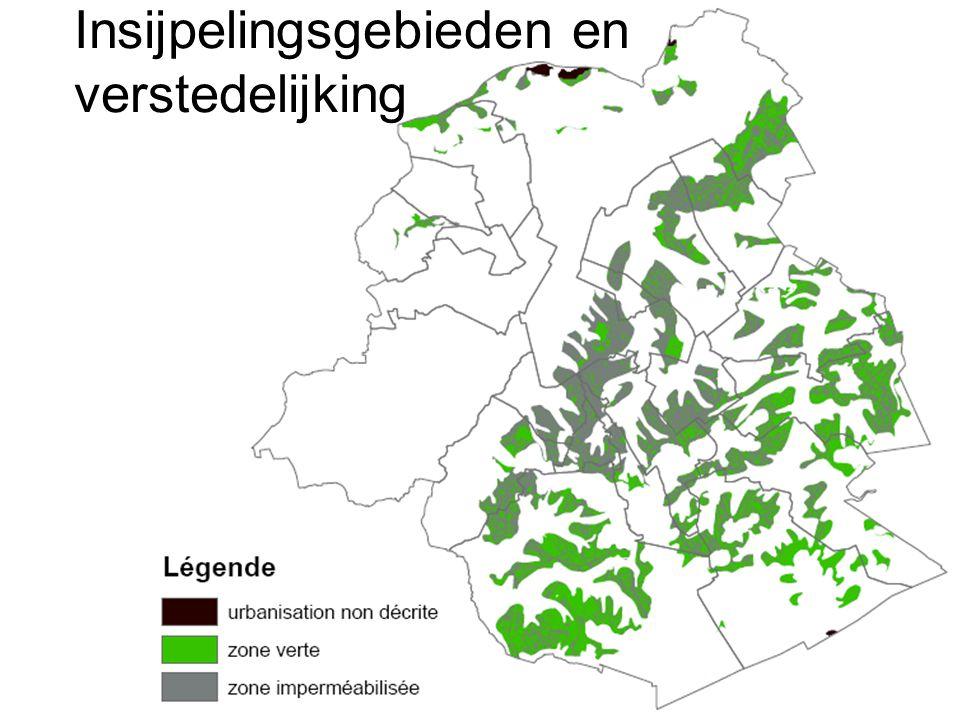 Insijpelingsgebieden en verstedelijking