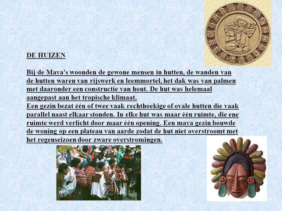 OORLOG De Maya's voerden veel oorlogen en veldslagen omdat de verschillende heersers het gebied van hun koninkrijk wilden vergroten. Er kon geen oorlo