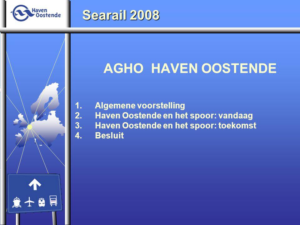 AGHO HAVEN OOSTENDE 1.Algemene voorstelling 2.Haven Oostende en het spoor: vandaag 3.Haven Oostende en het spoor: toekomst 4.Besluit Searail 2008
