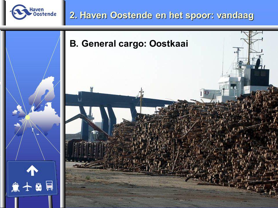 2. Haven Oostende en het spoor: vandaag B. General cargo: Oostkaai