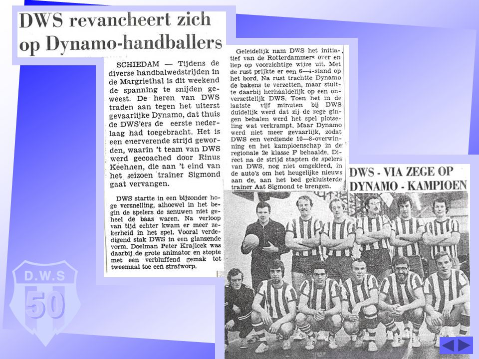 De heren werden in '70 kampioen in district 2e klasse veldhandbal.