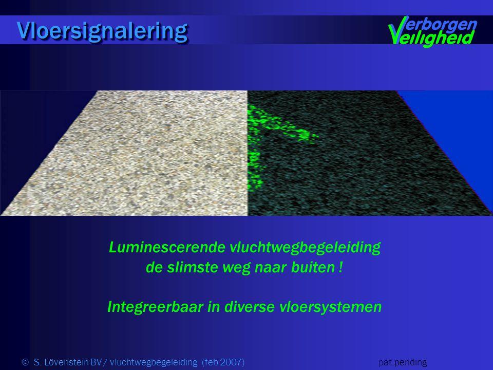 VloersignaleringVloersignalering Luminescerende vluchtwegbegeleiding de slimste weg naar buiten .