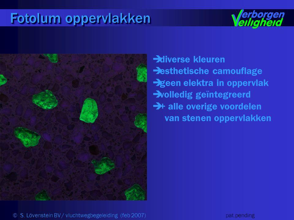  diverse kleuren  esthetische camouflage  geen elektra in oppervlak  volledig geïntegreerd  + alle overige voordelen van stenen oppervlakken Fotolum oppervlakken © S.
