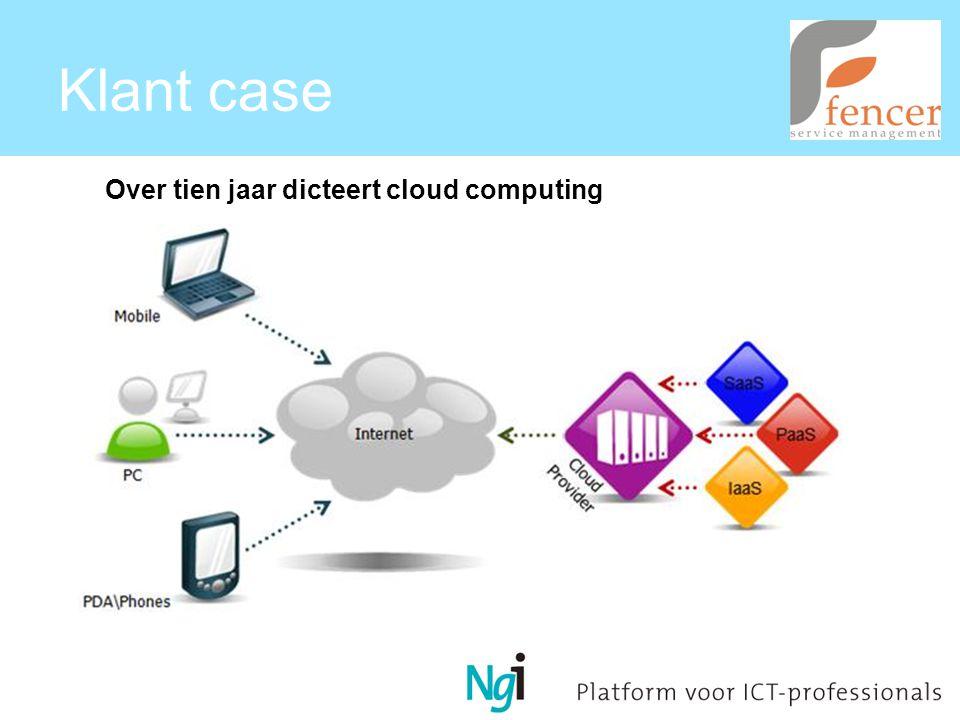 Klant case Over tien jaar dicteert cloud computing