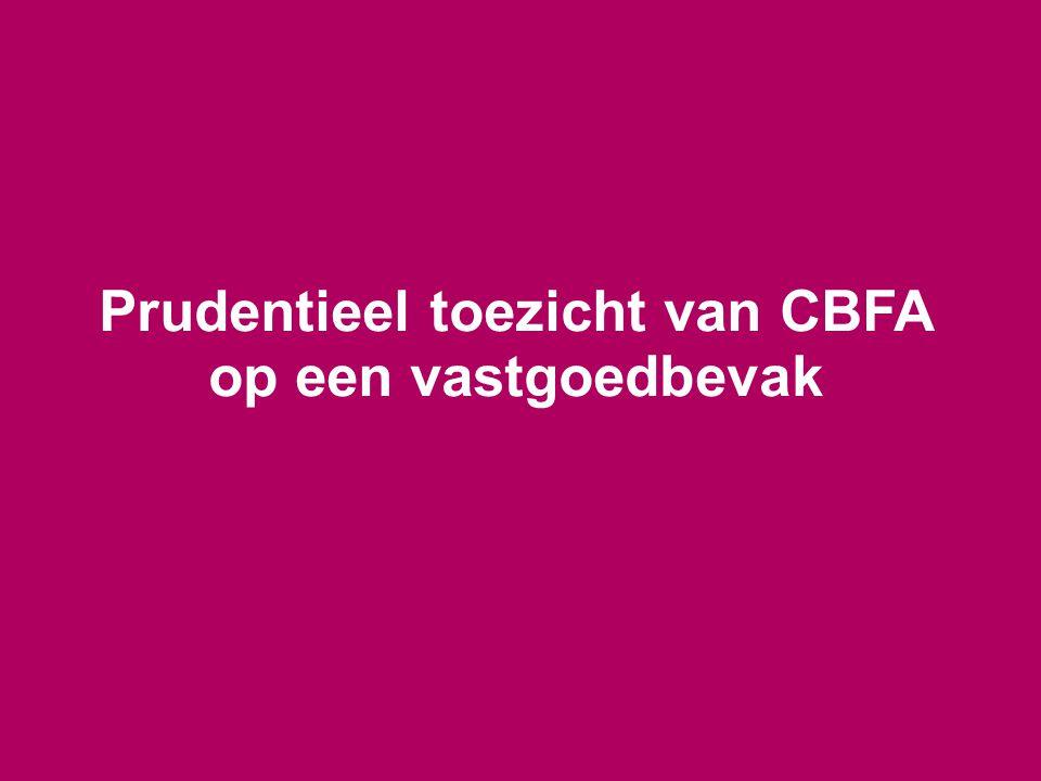 Prudentieel toezicht van CBFA op een vastgoedbevak