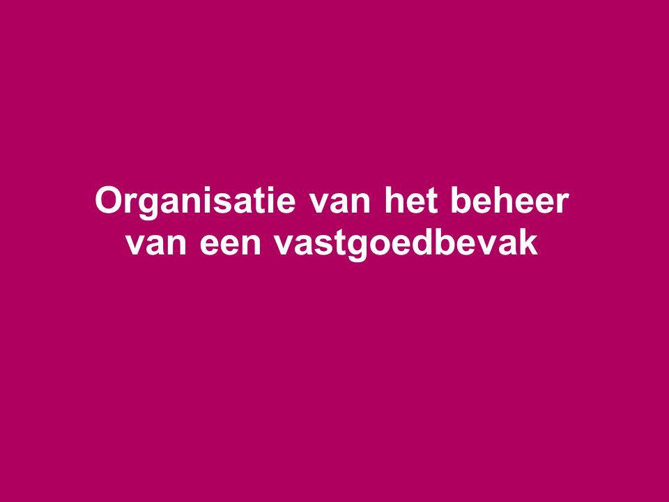 Organisatie van het beheer van een vastgoedbevak