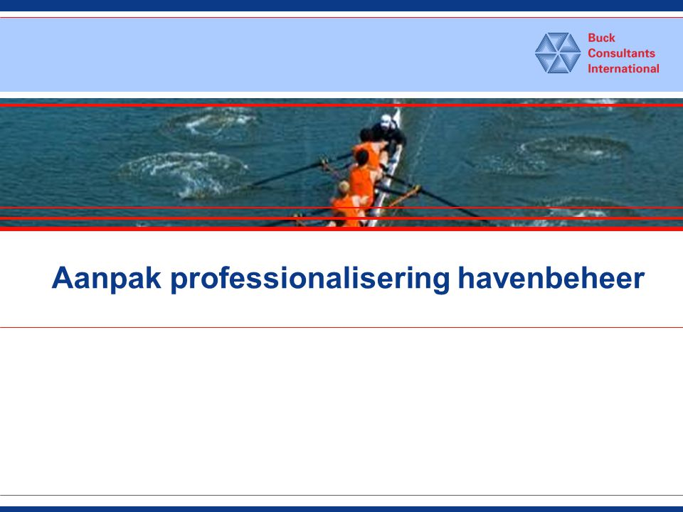 Aanpak professionalisering havenbeheer