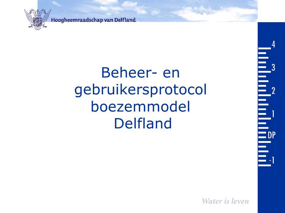 Beheer- en gebruikersprotocol boezemmodel Delfland