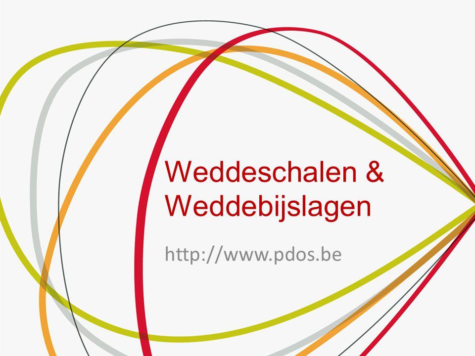 Weddeschalen & Weddebijslagen http://www.pdos.be