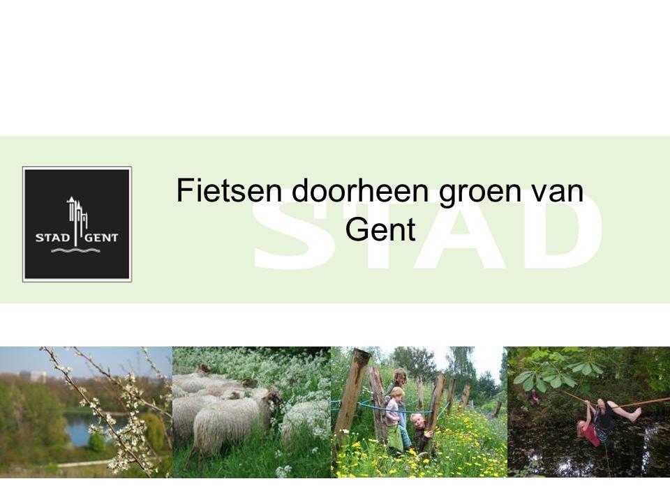 Fietsen doorheen groen van Gent