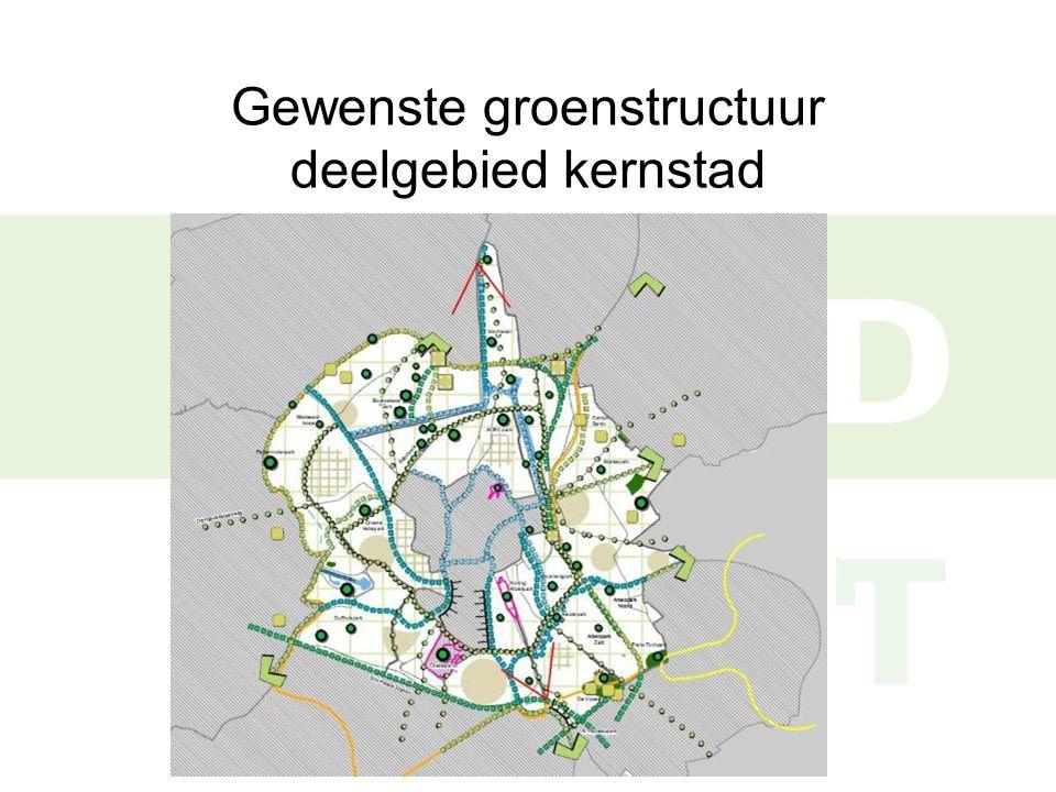 Gewenste groenstructuur deelgebied kernstad