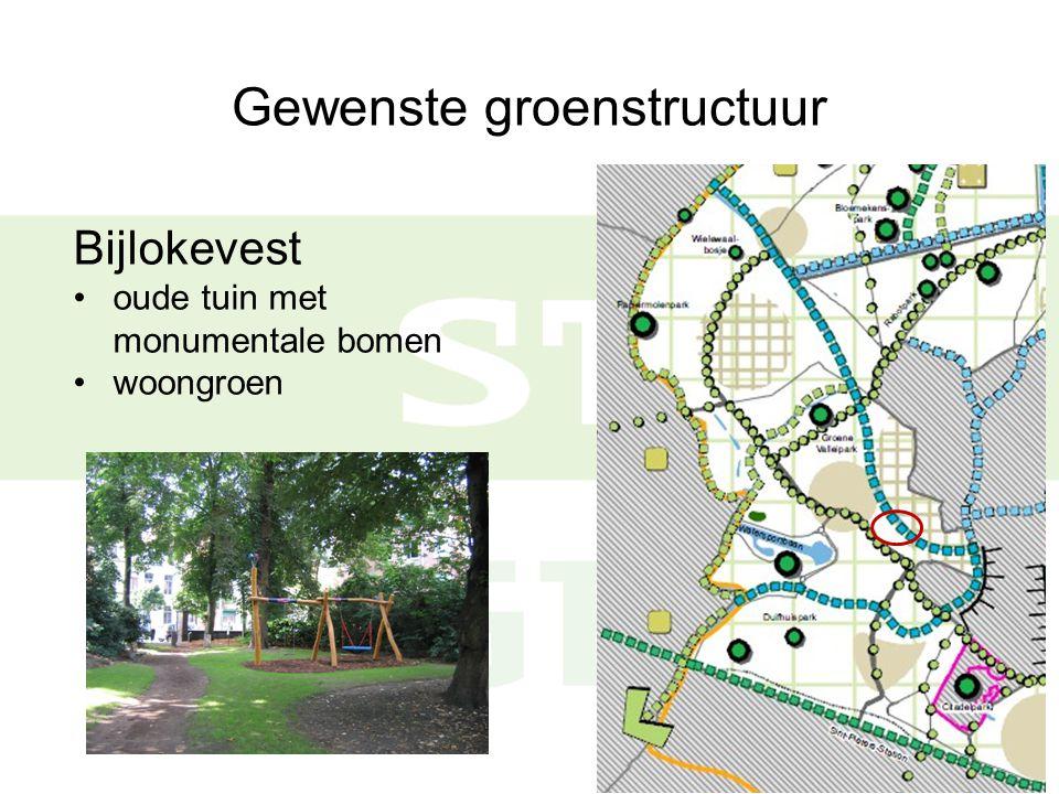 Gewenste groenstructuur Ekkergempark is woongroen, functioneert als wijkpark zoekzone wijkpark in buurt