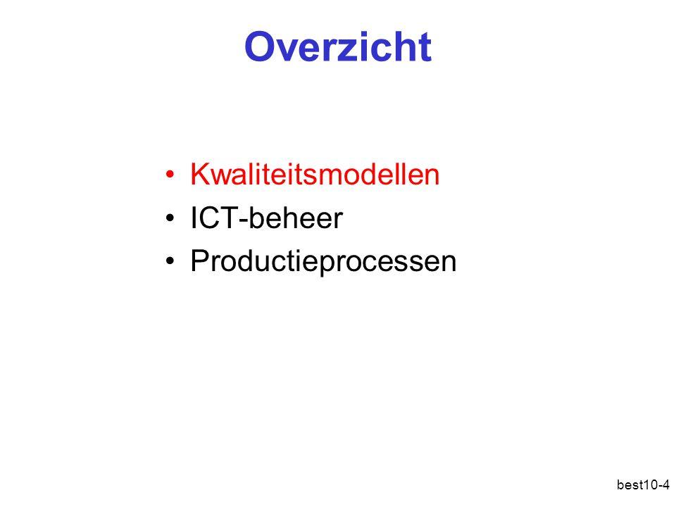 best10-4 Overzicht Kwaliteitsmodellen ICT-beheer Productieprocessen