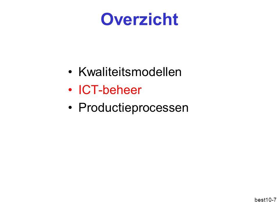 best10-7 Overzicht Kwaliteitsmodellen ICT-beheer Productieprocessen
