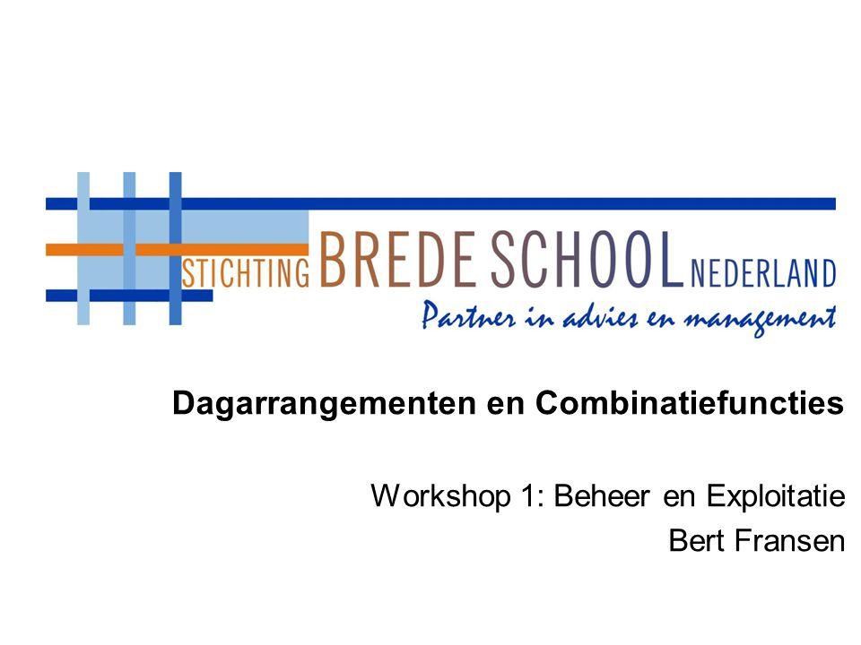 Dagarrangementen en Combinatiefuncties Workshop 1: Beheer en Exploitatie Bert Fransen