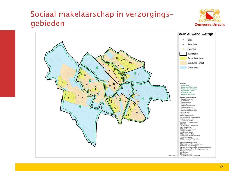 16 Sociaal makelaarschap in verzorgings- gebieden