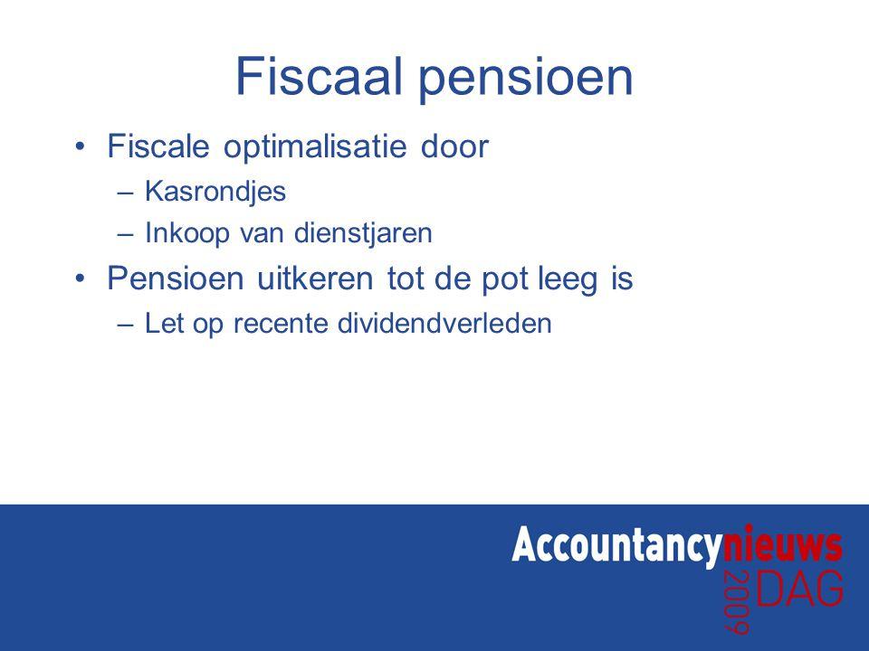 Echt pensioen Pensioentoezegging afstemmen op pensioenwens DGA waaronder budget en het gewenste box-I inkomen bij –Ouderdom –Overlijden –Arbeidsongeschiktheid Dekking d.m.v.