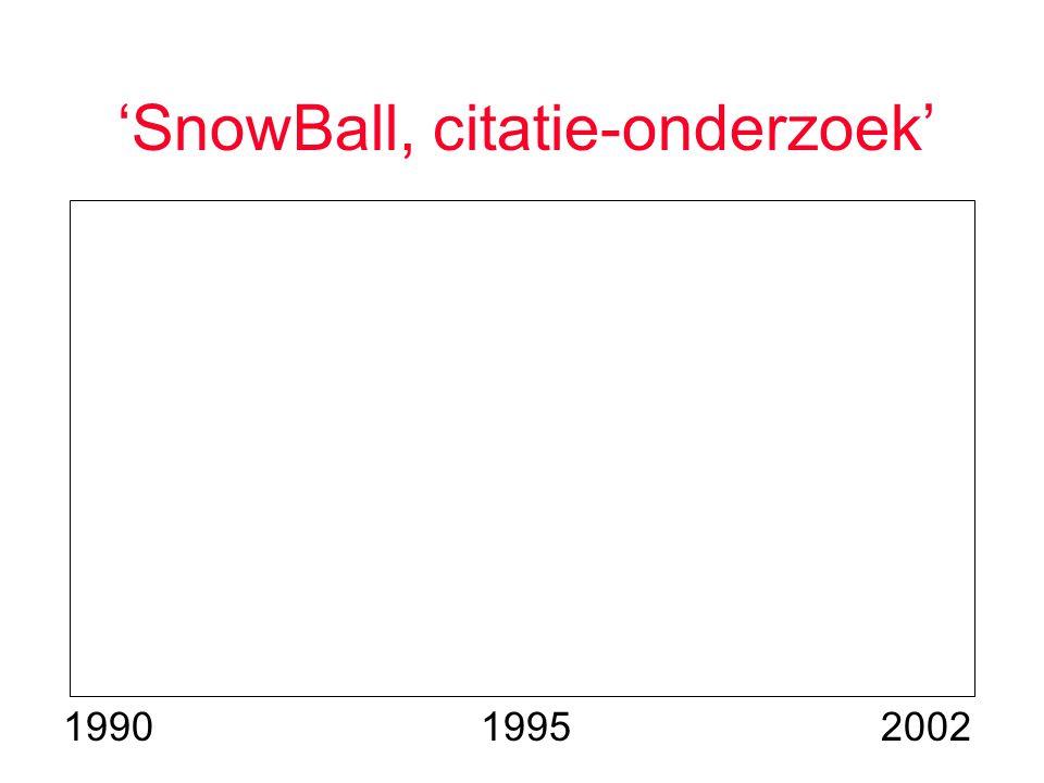 'SnowBall, citatie-onderzoek' 200219951990