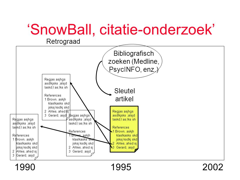 'SnowBall, citatie-onderzoek' Regjas asjhgs asdlkjsks ;alsjd laskd;l as;lks sh References 1 Brown, askjh klaslkasks skd jsksj ksdkj skd 2 Ahles, ahsd sj 3 Gerard, asjd Regjas asjhgs asdlkjsks ;alsjd laskd;l as;lks sh References 1 Brown, askjh klaslkasks skd jsksj ksdkj skd 2 Ahles, ahsd sj 3 Gerard, asjd Regjas asjhgs asdlkjsks ;alsjd laskd;l as;lks sh References 1 Brown, askjh klaslkasks skd jsksj ksdkj skd 2 Ahles, ahsd sj 3 Gerard, asjd Regjas asjhgs asdlkjsks ;alsjd laskd;l as;lks sh References 1 Brown, askjh klaslkasks skd jsksj ksdkj skd 2 Ahles, ahsd sj 3 Gerard, asjd Retrograad Sleutel artikel Bibliografisch zoeken (Medline, PsycINFO, enz.) 2002