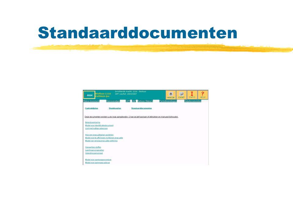 Standaarddocumenten
