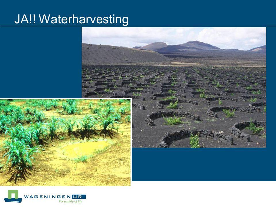 JA!! Waterharvesting