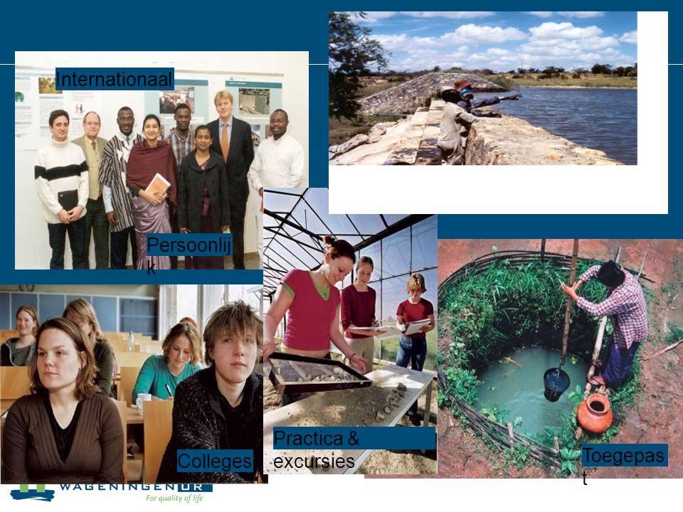 Wereldwij d Internationaal Practica & excursies Colleges Toegepas t Persoonlij k