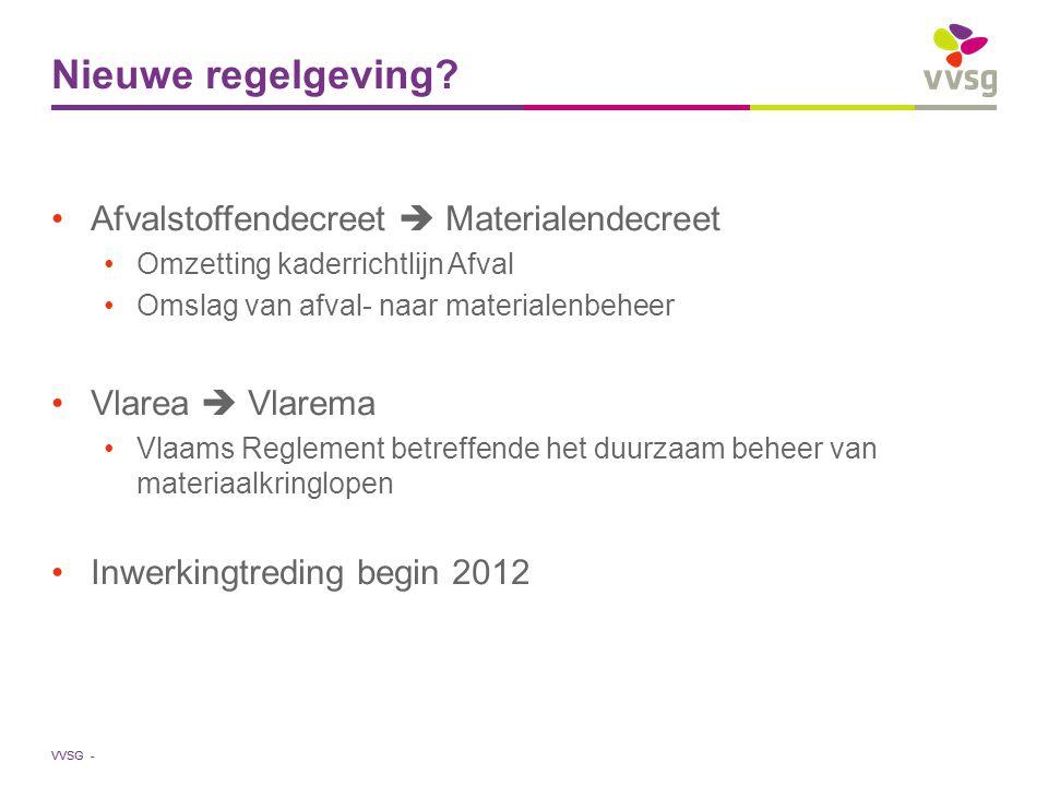VVSG - Nieuwe regelgeving.