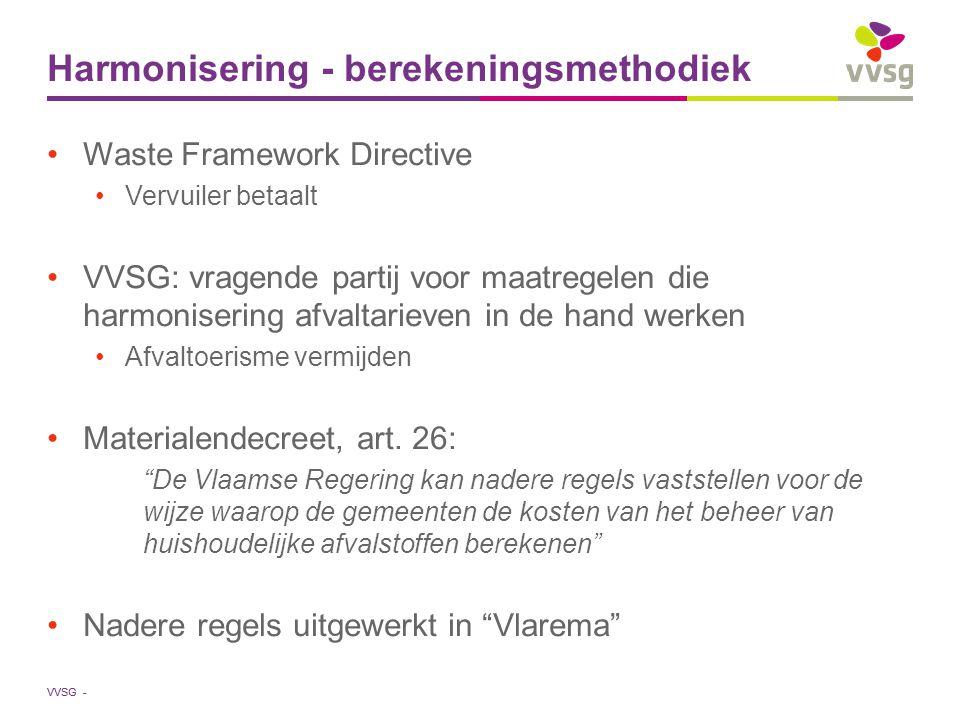 VVSG - Maar eerst …
