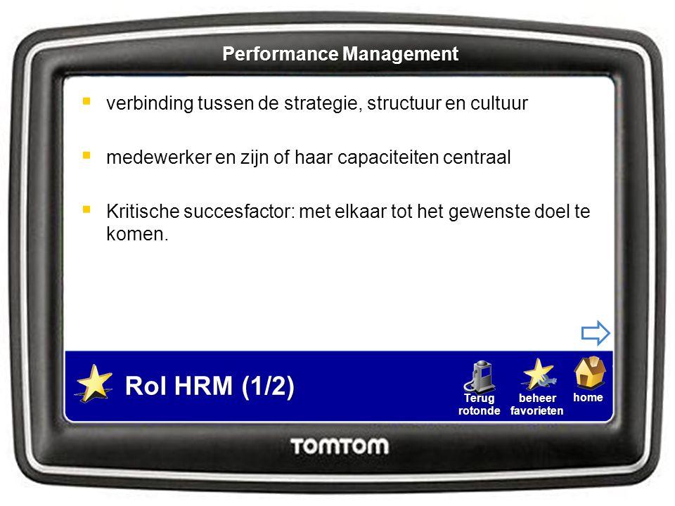 homebeheerfavorietenTerugrotonde  HRM kan helpen bij:  Formulering concrete, samenhangende doelstellingen  Ontwikkeling ondersteunende Instrumenten  Onderzoek: wat is de strategie van de eigen organisatie.