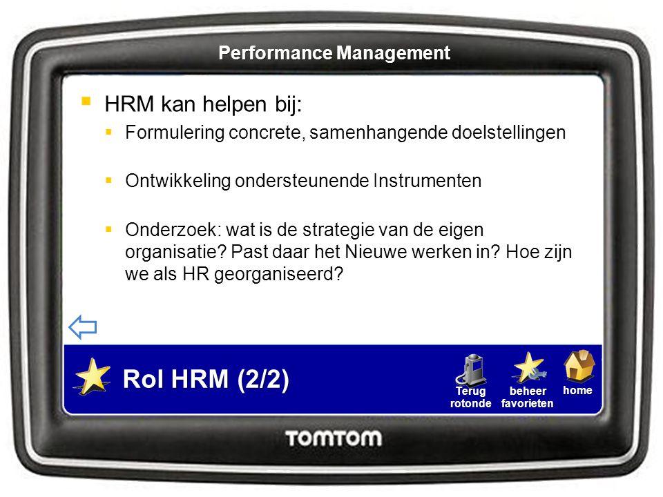 homebeheerfavorietenTerugrotonde  HRM kan helpen bij:  Formulering concrete, samenhangende doelstellingen  Ontwikkeling ondersteunende Instrumenten