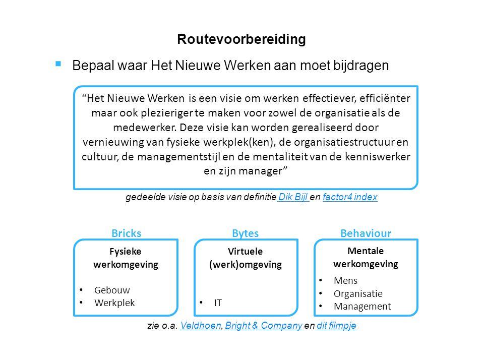  Hulp bij implementatie van Het Nieuwe Werken. Focus op de HR Professionals.