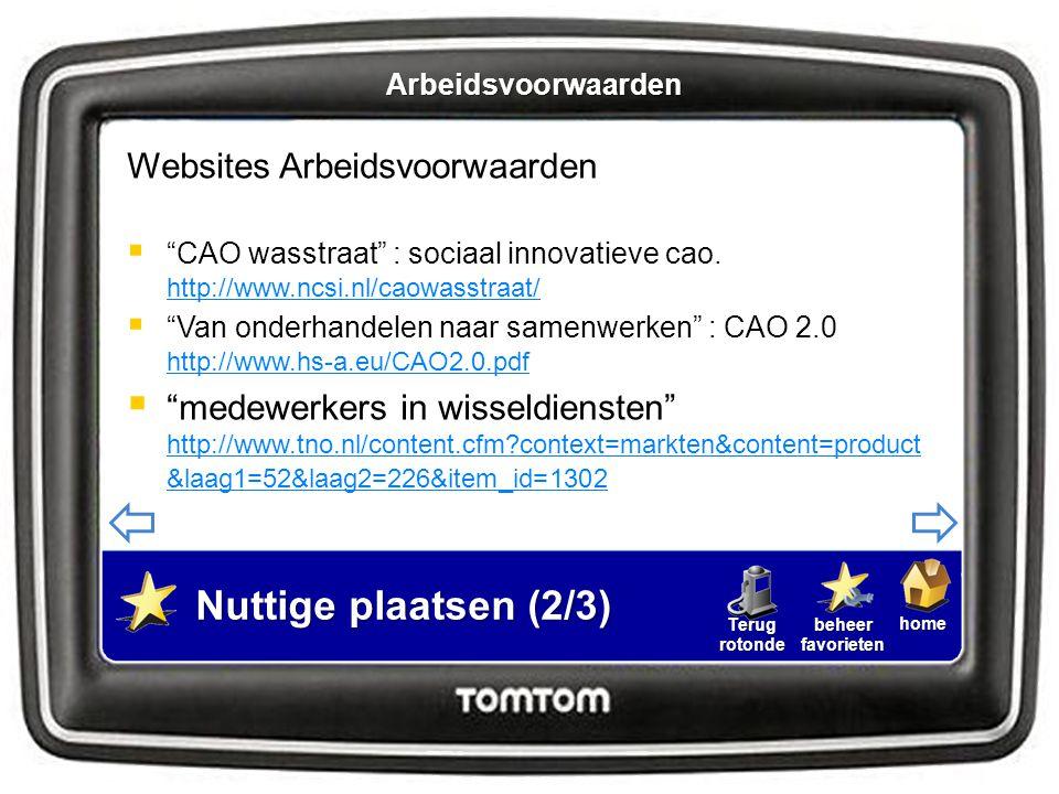 """homebeheerfavorietenTerugrotonde Websites Arbeidsvoorwaarden  """"CAO wasstraat"""" : sociaal innovatieve cao. http://www.ncsi.nl/caowasstraat/ http://www."""